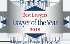 Glenn Forbis Patent Litigation Best Lawyers Award Winner