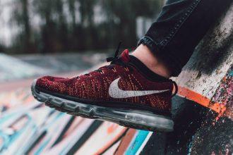 close up of nike shoe