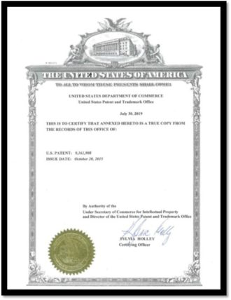 image of a certified copy of a patent