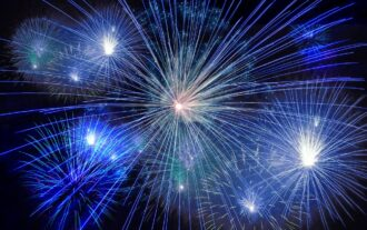 Fireworks Celebrating IP law firm 100 year anniversary